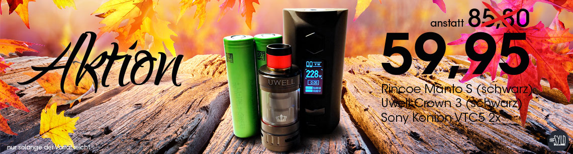 Aktion Rincoe Manto S | Uwell Crown 3 | Sony Konion VTC5