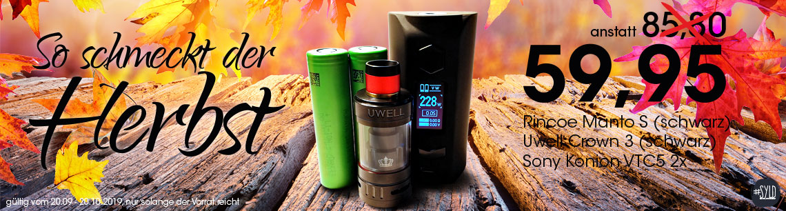 Rincoe Manto S   Uwell Crown 3   Herbst Aktion